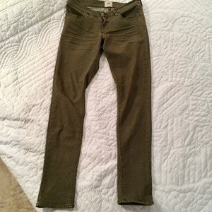 Urban Outfitters Dark Sage Green Skinnies